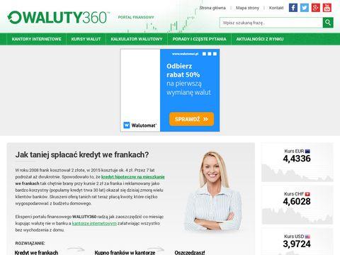 Por贸wnywarka kantor贸w internetowych - waluty360.pl