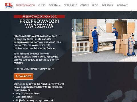 Przeprowadzki firm Warszawie