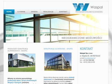 WASPAL producent konstrukcji aluminiowych Poznań