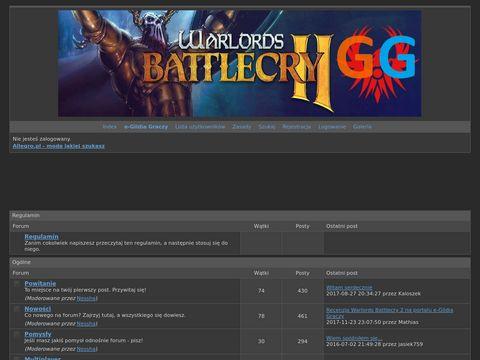 Forum Warlords Battlecry