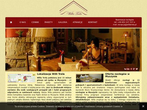 Willa Trela - pokoje i apartamenty w Muszynie