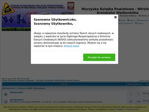 Wyrzyska Kolejka Powiatowa w Bia艂o艣liwiu - Forum Wyrzyskiej Kolejki Powiatowej i innych 600mm