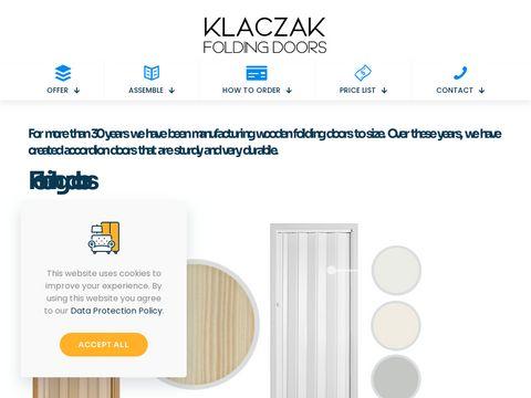 ZAK艁AD STOLARSKI KLACZAK S.C. folding doors