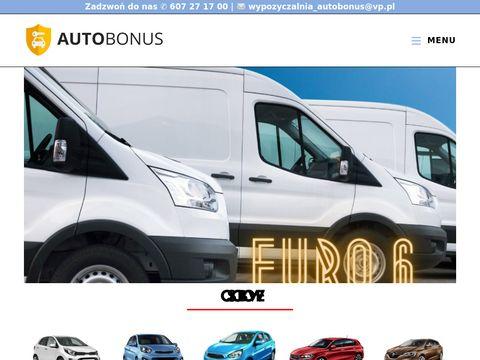 Wynajem aut dostawczych - Autobonus