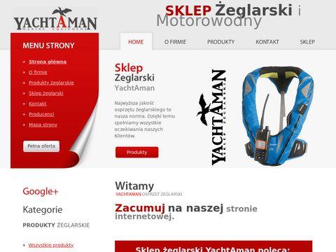 Internetowy sklep 偶eglarski z osprz臋tem Yachtaman