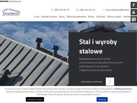 Firma handlowa Zajkowska Białystok pręty żebrowe białystok