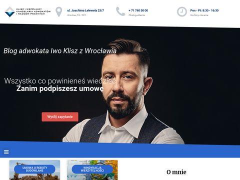 Adwokat Wroc艂aw