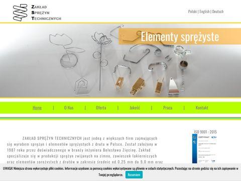 Zakład Sprężyn Technicznych I produkcja sprężyn z drutu oraz taśm