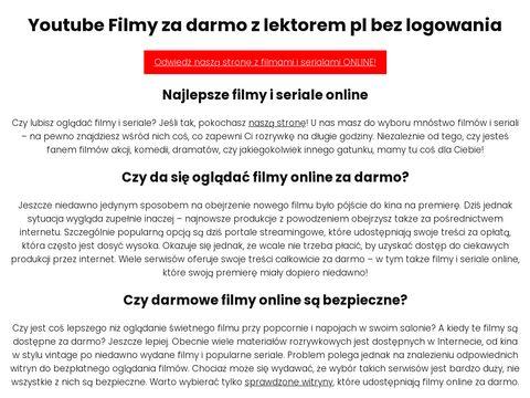 Youtube całe filmy i seriale za darmo - youtubefilmy.pl