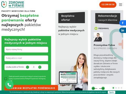 Pakiety medyczne dla pracowników zdrowiewfirmie.pl