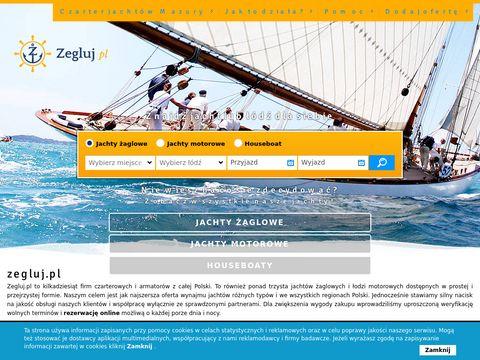 Czarter jachtów i łodzi motorowych na Mazurach, Bałtyku i innych akwenach Polski