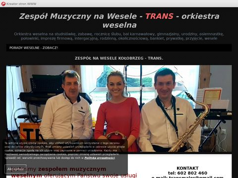 Zespół muzyczny na wesele Kołobrzeg