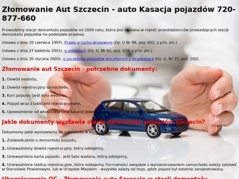 Z艂omowanie aut Szczecin - ca艂e Zachodniopomorskie