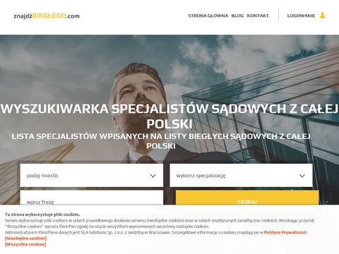 Blog i wyszukiwarka biegłych sądowych