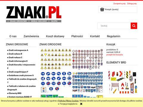 Sklep ze znakami drogowymi - znaki.pl - znaki drogowe sklep internetowy
