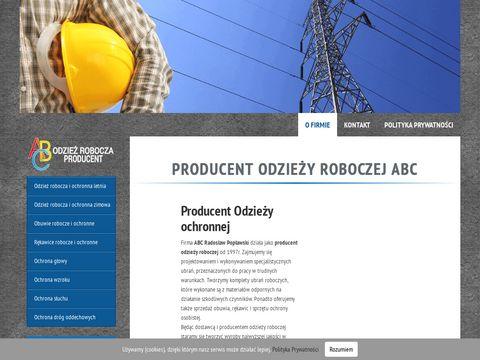 Producent obuwia ochronne - abcrobocze.pl
