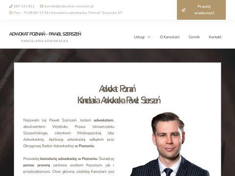 Paweł Szerszeń Adwokat: Poznań, Śrem, Konin, Gniezno, Kościan, Września.