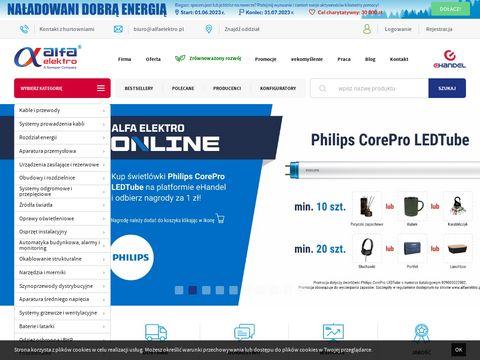 Alfa Elektro sklep elektryczny i hurtownia dla elektryków