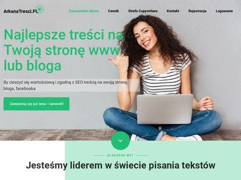 Treści SEO na stronę i bloga ☆ ArkanaTresci.pl