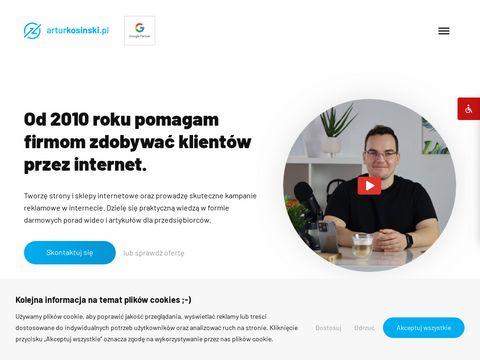 Artur Kosi艅ski - strony internetowe Olsztyn