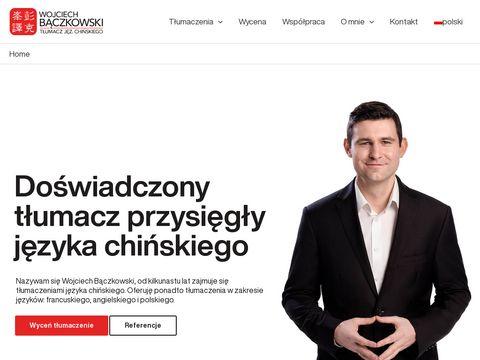 Tłumacz chiński przysięgły - baczkowski.pro