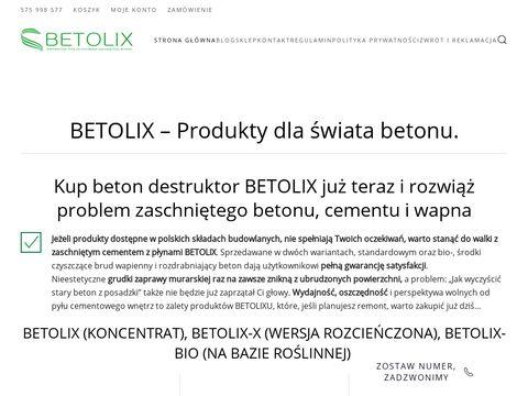 Betolix.pl - Å›rodek do czyszczenia betonu