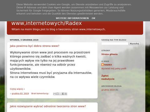 Tworzenie stron www,internetowych,tanie strony www-blog radex