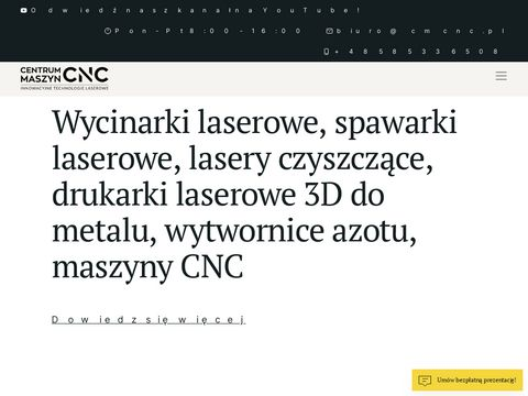Centrum Maszyn CNC - Wycinarki laserowe