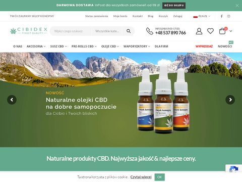Produkty konopne susz CBD, oleje CBD i inne