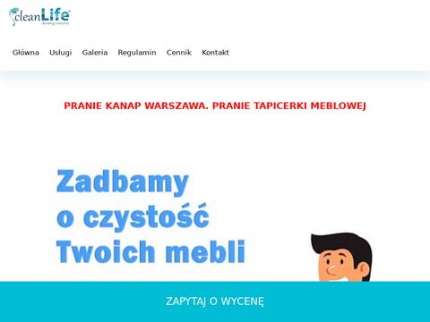 Pranie i czyszczenie tapicerki meblowej Warszawa. Pranie kanap