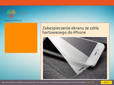 Szkła ochronne hartowane do iPhone - Conwin.pl