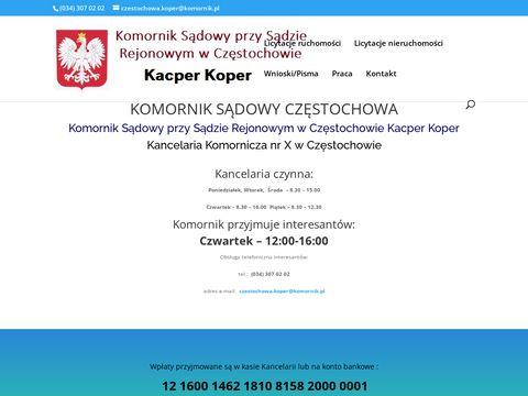 Komornik SÄ…dowy CzÄ™stochowa - Kacper Koper