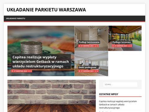 Układanie parkietu Warszawa - dkparkiet.pl