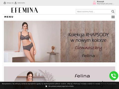 Odzież i bielizna sklep internetowy efemina