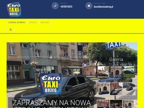 eurotaxibrzeg.pl us艂ugi taxi, przew贸z os贸b, taxi brzeg,