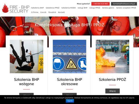 Szkolenia przeciwpożarowe FIRE-BHP SECURITY