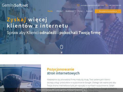 GeminiSoftnet - tworzenie stron www