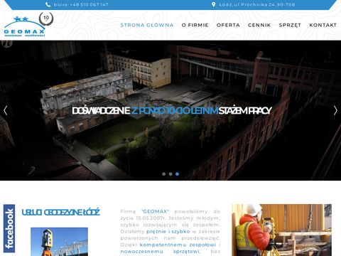Geomax.net.pl - Skanowanie laserowe budynków