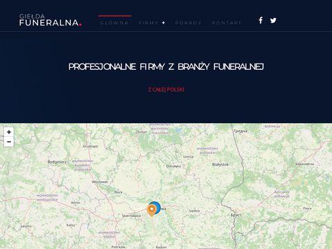 Giełda Funeralna: portal branży pogrzebowej, serwis pogrzebowy, katalog
