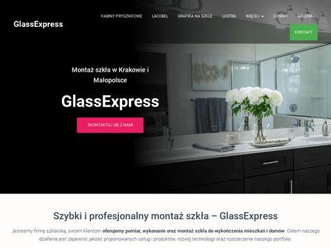 Montaż szkła na wymiar - glassexpress.pl