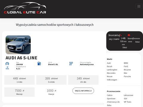 Wynajem samochod贸w sportowych - globalelitecar.pl