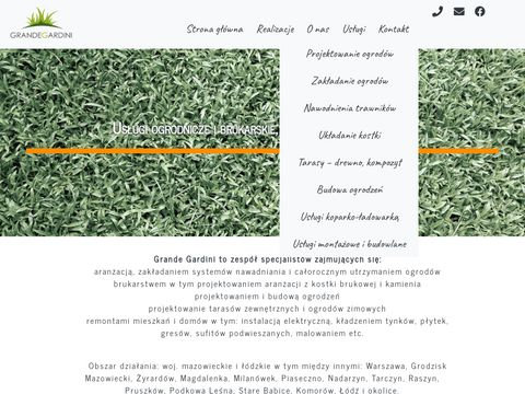 Projektowanie i aran偶acje ogrod贸w - Ogrodnicze us艂ugi Grande Gardini
