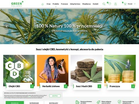 Green Poland – susz i olejki CBD, kosmetyki z konopii
