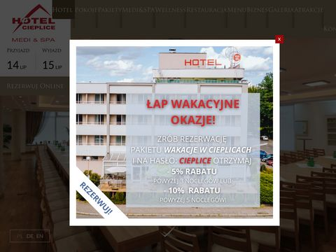 Hotel w Cieplicach, https://hotelcieplice.pl/
