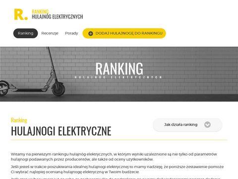Hulajnogi-ranking.pl - hulajnogi elektryczne