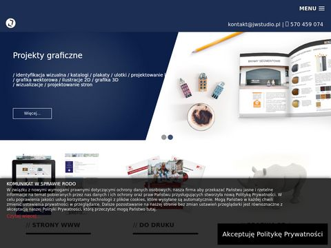 JW Studio - Tworzenie stron internetowych - Studio graficzne, Grafik Krak贸w - Start