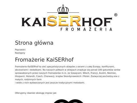 Sklep online z serami zagranicznymi - kaiserhofsklep.pl