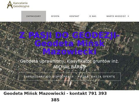 Geodeta Mińsk Mazowiecki - Usługi geodezyjne Mińsk Mazowiecki