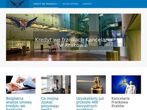 Kredyt we frankach Kancelaria Kraków