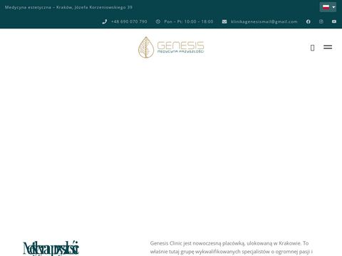Klinika Medycyny Estetycznej Krak贸w   Klinika Genesis